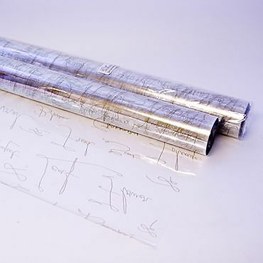 Gold Scrip Cellophane gift wrap 2m ideal for hampers and gifts Mothers day,
