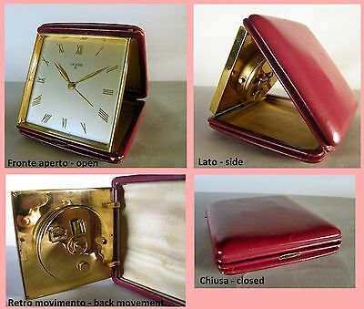 LUXOR orologio sveglia vintage carica 8 days - alarm travel clock - swiss made