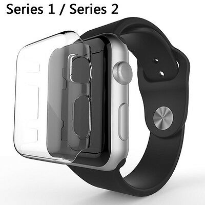 For Apple Watch 1/2 Series Screen Protector Guard Thin Hard Case Cover 38/42 MM