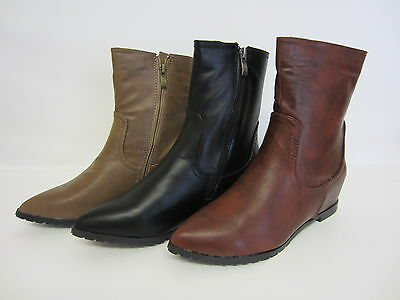 Blue R1B or Taupe UK 13 X 6 Spot On G8200 Girls//Ladies Ankle Boot Black