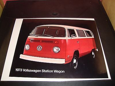 1973 VW Station Wagon Catalog Full Color Sales Brochure NM Condition Volkswagen