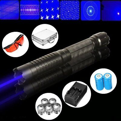 445nm Blue Visible Beam Laser Pointer Pen Cigarette Lighter Boxset with 5 Caps