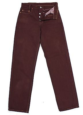Vtg Levis 501 Burgundy/maroon Ultimate High Waisted Boyfriend Jeans W27 L29 L880