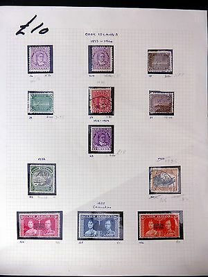 COOK ISLANDS Mounted Mint/Used Selection on Album Page FP8807