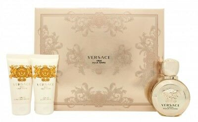Versace Eros Pour Femme Gift Set 50Ml Edp + 50Ml Body Lotion + 50Ml Shower Gel