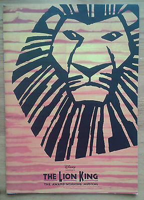 Disney's The Lion King photo programme Lyceum Theatre February 2001 ed.