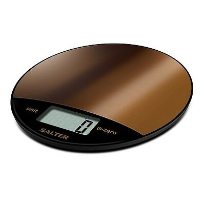 Salter 8kg Metalic Copper Electronic Digital Kitchen Scale Copper 1059 BKDR NEW