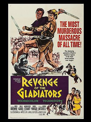 """Revenge of the Gladiators 16"""" x 12"""" Reproduction Movie Poster Photograph"""