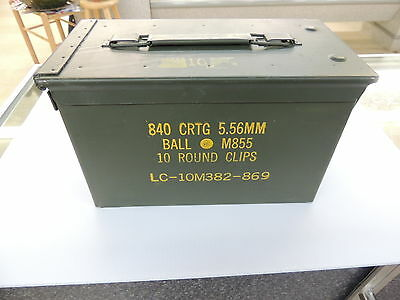 .50cal / 5.56mm M2A1 Ammo Can US Military Surplus