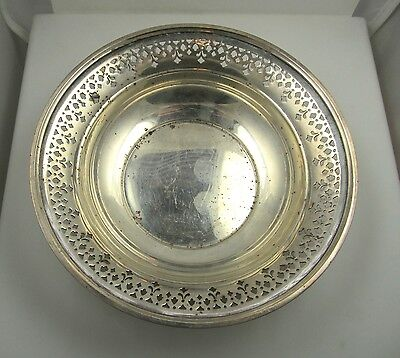 Vintage Tiffany & Co Pierced Bowl Tray Sterling Silver