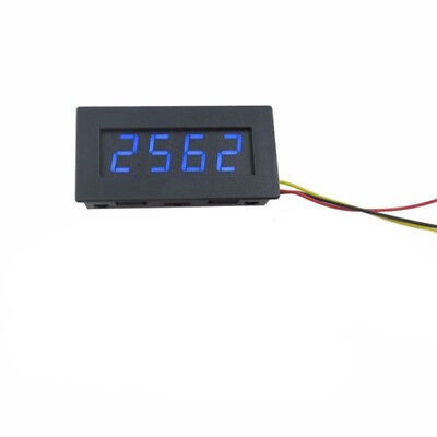 "New 12V 0.56"" Digital Blue LED Tachometer RPM Speed Meter 5-9999RPM"