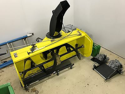 John Deere 47 Inch SnowBlower (SKU23047) + Weights and Chains - Great Condition