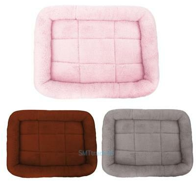 Warm Pet Bed Cushion Mat Pad Dog Cat Kennel Crate Cozy Soft Kennel House S-XL S5