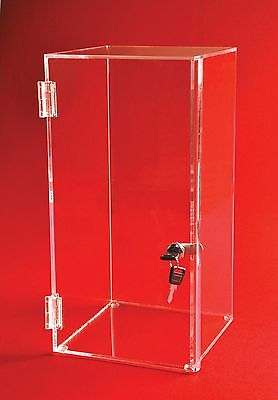"Locking Display Case - 20"" H x 14""W x 12""D - No inside shelves 