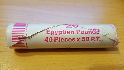 1 Roll Of 40 Coins Egypt 50 Piastres Queen Cleopatra Coin Unc No Longer Minted