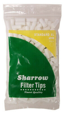 STANDARD XL EXTRA LONG 8mm FILTER TIPS By SHARROW Smoking Tobacco Chunky Tip