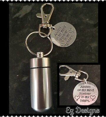 Cremation Ashes/keepsake Urn Keyring    Memorial Gift Token Heart ❤ CHARM