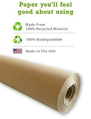"Kraft Paper Jumbo Roll Packing Wrap Craft Butcher Mail Brown 30""x1200"" 100ft NEW"
