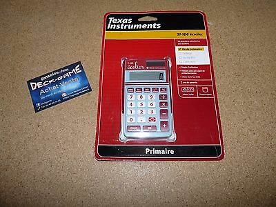 calculatrice texas instruments ti-106 ecolier solaire !! neuf sous blister !!