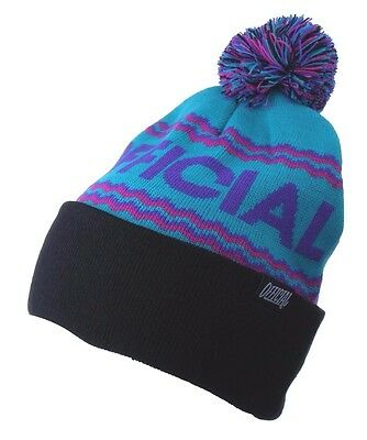 9391ff04e60 Official Crown of Laurel Turquoise Purple Alpini Togano Pom Beanie Winter  Hat NW