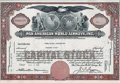 Pan American World Airways Inc., New York, 1959 (25 Shares) sig. Trippe