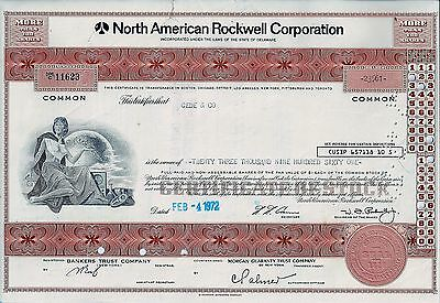 North American Rockwell Corporation, 1972 (23.961 Shares !) W.J.Rockwell