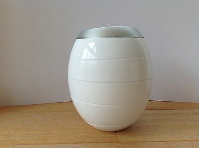 Biodegradable Compostable Cremation Urn for Adults Ashes White & Silver