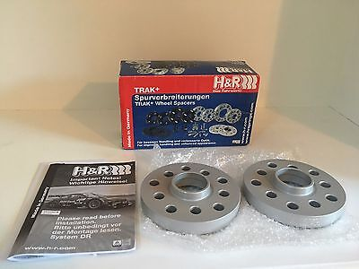 Pair of 20mm H&R Silver Wheel Spacers | 5x112 | Stock Clearance Sale