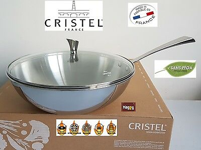 wok 28 cm inox Casteline CRISTEL made in france marmite casserole four pierre 0