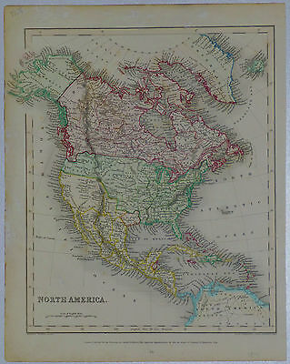 1838 Genuine Antique Map of North America, Republic of Texas. Archer