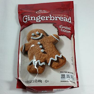 BETTY CROCKER GINGERBREAD Cookie Dough Mix Limited HOLIDAY EDITION 17.5 Oz.