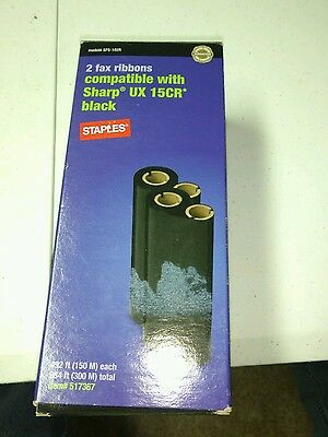 staples brand for sharp ux15cr fax ribbons new