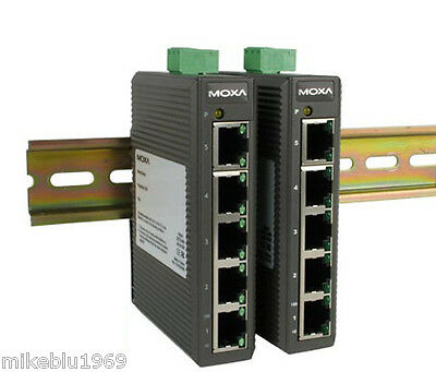 MOXA EDS-205 Switch Ethernet with 5 10/100BaseT(X) ports, DIN RAIL  -10 ° to 60°