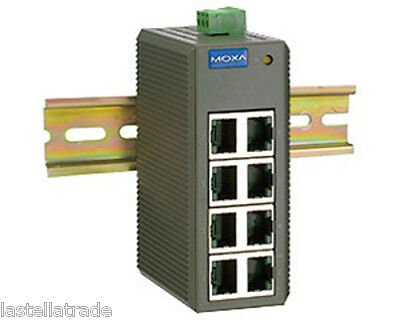 MOXA EDS-208 Switch Ethernet with 8 10/100BaseT(X) ports, DIN RAIL  -10 ° to 60°
