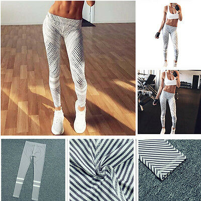 Womens Yoga Fitness Sports Pants Leggings Stretched Running Gym Bottoms Trousers