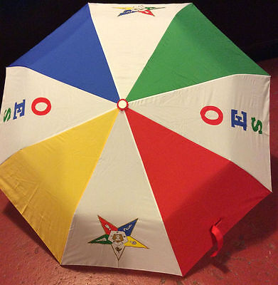 Order of the Eastern Star OES Auto Open Folding Umbrella-New!