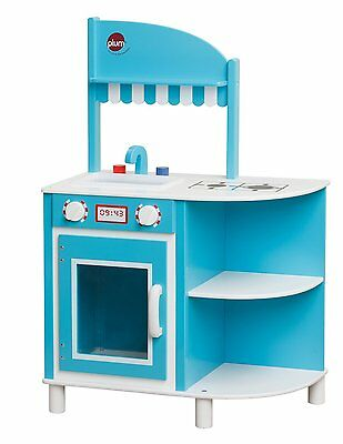 New! Plum Hendon Wooden Kitchen-Boys Blue Wooden Play Kitchen-Role Play Toy