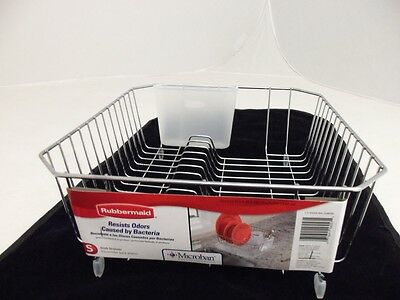 Rubbermaid Twin Size Small Sink Dish Drainer Rack Chrome 6008-Ar New