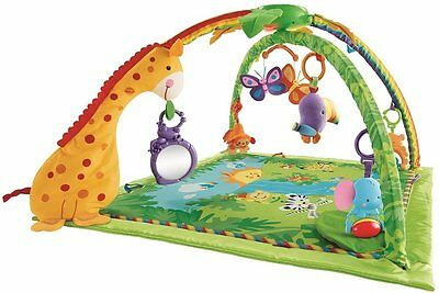 New! Fisher-Price Rainforest Melodies and Lights Deluxe Baby Gym.