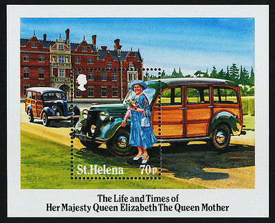 St Helena 432 MNH Queen Mother 85th Birthday, Vehicles