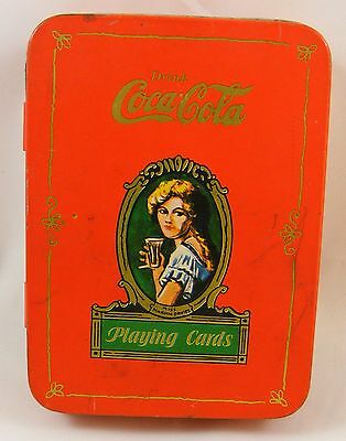 Vintage Coca-Cola Coke Playing Cards - Complete - Two Pack in Tin