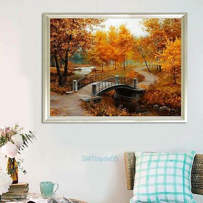 Autumn Scenery 40*30cm DIY Paint By Number On Canvas Oil Painting Set Home Decor