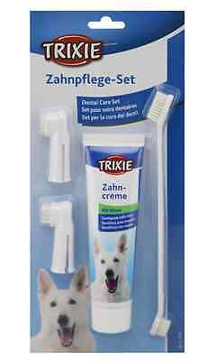 Trixie Dog Toothbrush and MINT Toothpaste Dental Care Kit, DOG FRESH BREATH