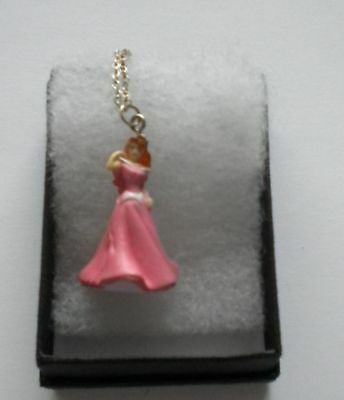 New Girls Pink 3D Disney Princess (Ariel - The Little Mermaid) Pendant Necklace