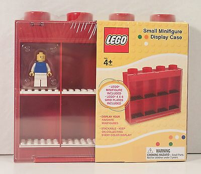 LEGO Small (1) Minifigure Included RED DISPLAY CASE Storage **SEALED KP005MF