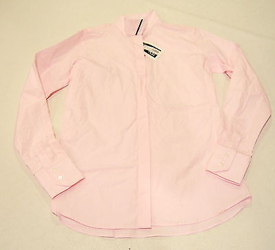 NEW, MARIGOLD WRAP COLLAR show shirt PINK, LADIES CAN 8  ~32 bust $160
