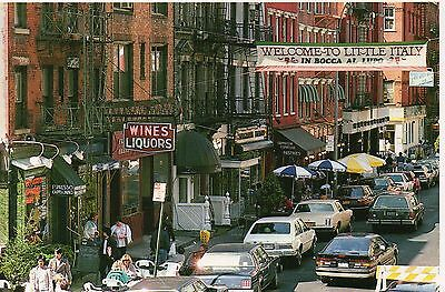 """Old Postcard: """"Little Italy"""",New York, United States"""