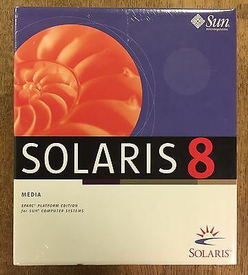 Solaris 8 Sparc Platform Edition for Sun Computer Systems NEW SEALED