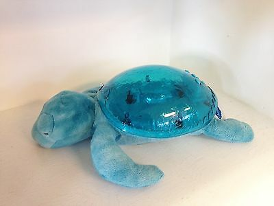 Cloud B Tranquil Sea Turtle Night Light Plush Blue Waves