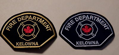 Kelowna (BC,Canada) Fire Department Patches - Set of 2